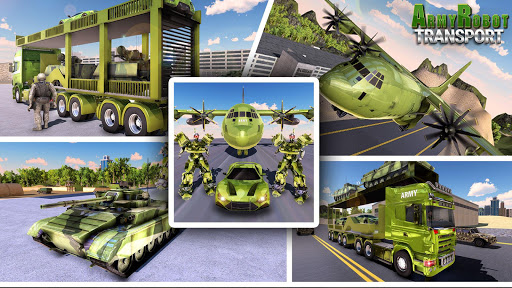 US Army Tank Robot Transform Cargo Plane Transport 2.0.1 screenshots 1