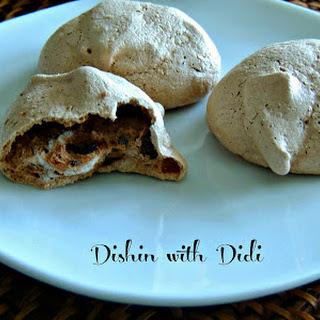 Mocha Chip Meringue Cookies.