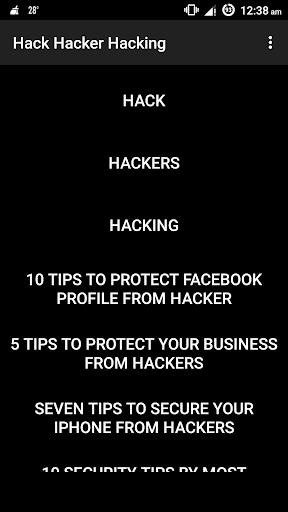 Hack Hacker Hacking