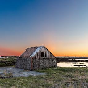 Straumur by Bragi Kort - Digital Art Places ( iceland, bragi kort, blue sky, sky, sunset, sunlight, colours, bkort photography )
