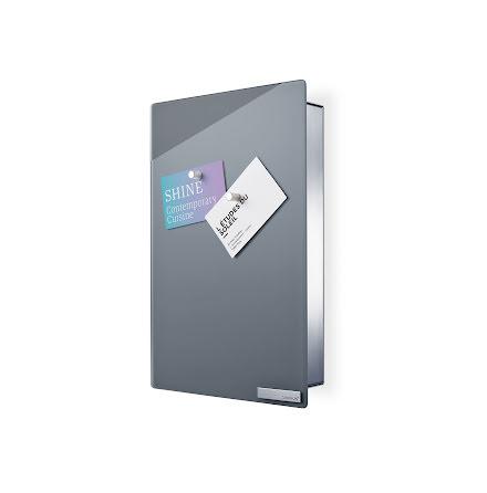 Velio nyckelskåp med magnettavla grå