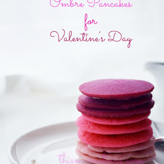 Ombre Pancakes for Valentine's Day.