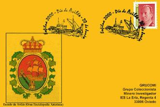 Photo: Tarjeta del matasellos del día de Avilés 2000