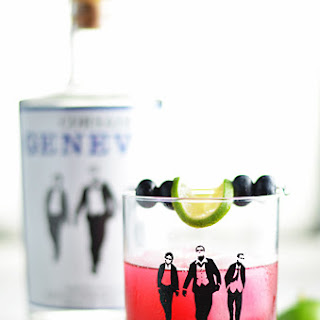 Blueberry Ginger Gimlet