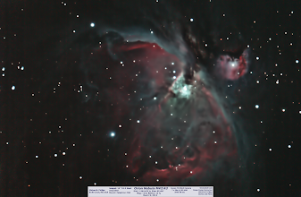 Photo: Day 29 gives us a more recent, but needed and required Orion Nebula.  I took 15 x 30s unguided ISO 400.  Only 7 of them stacked in DSS.  WHY?  :( Here's the result and not too shabby! I kinda wish someone asked me about this name, I would have called it the cotton candy nebula, but maybe I over did the processing?!?