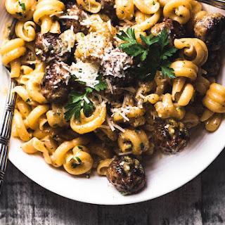 Jamie Oliver's Easy Sausage Carbonara.