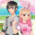 Anime High School Couple - First Date Makeover icon