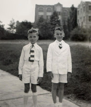 Photo: Young Robert F. Wagner, with cousin, ca. 1945.