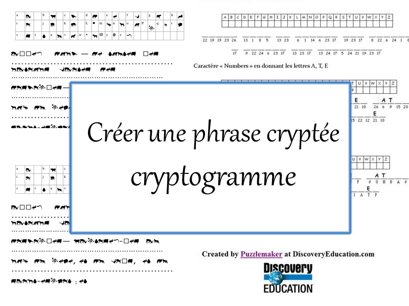 Créer une phrase cryptée