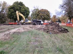 Photo: Parking Lot excavation 10-21-2013