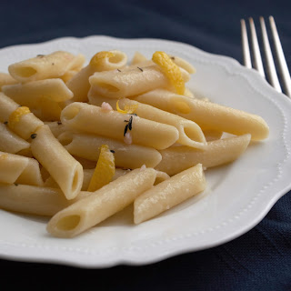 Mostaccioli with Lemon and Garlic