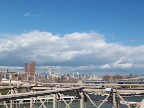 Photo: 1st day in NY - on Brooklyn Bridge, overlooking midtown Manhattan