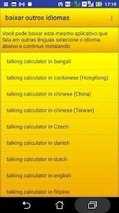 calculadora falante - náhled
