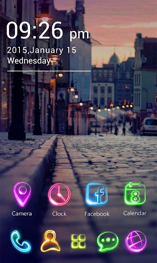 Tonight GO Launcher Theme v1.0.62 screenshots 3