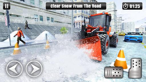 Excavator Snow Plow: City Snow Blower Truck Games 1.0 screenshots 1