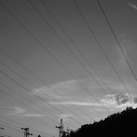 Залез by Georgi Kolev - Black & White Landscapes ( тих., природа., летен., топъл., залез. )