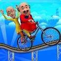 Motu Patlu Cartoon Hills Biking Game icon