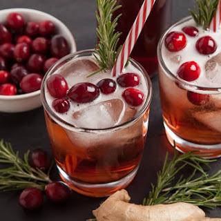 Cranberry Ginger Fizz.