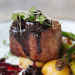 Bison Tenderloin with Cherry Port Glace.