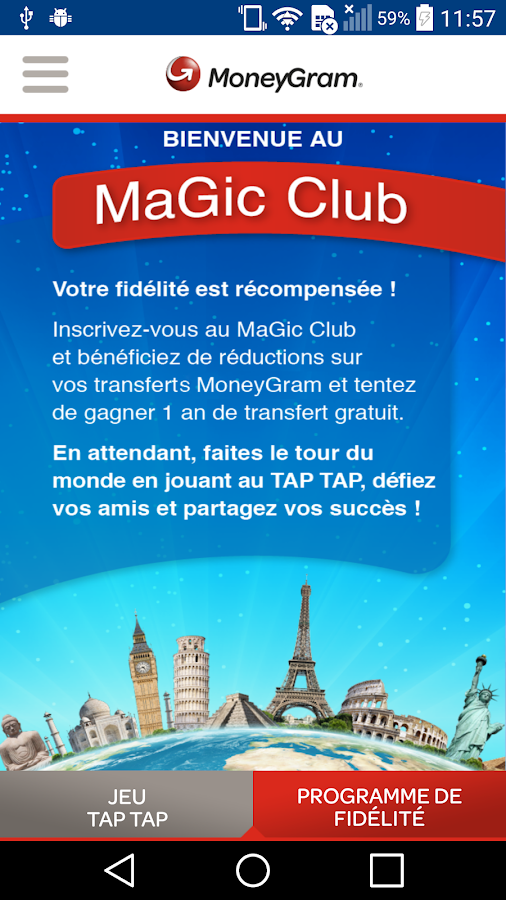 MoneyGram MaGic Club- screenshot