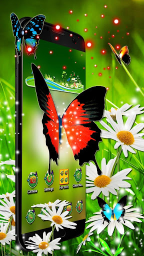 3d colorful butterfly theme ss3
