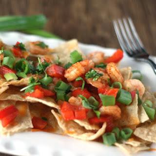 Cheddar-Shrimp Nachos