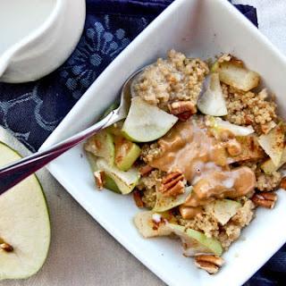Apple and Peanut Butter Breakfast Quinoa.