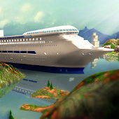 Tourist Transport Ship Game - Cruise Ship Driving