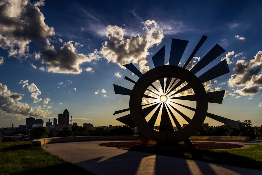 by Nathan McLaughlin - Buildings & Architecture Statues & Monuments ( clouds, iowa, skyline, sky, blue )
