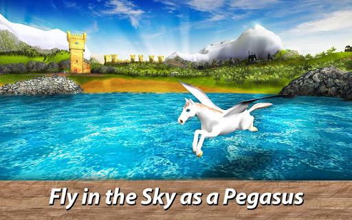 ud83eudd84ud83cudf08u2764ufe0f Pegasus Simulator: Flying ud83dudc0e Horse Survival 1.1 screenshots 1