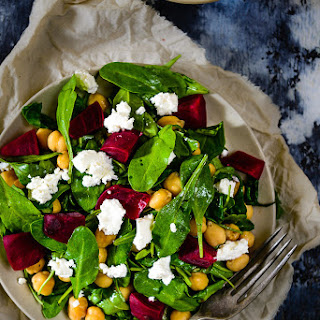 Baby Spinach Chickpeas and Feta Salad Recipe