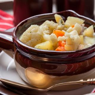 Creamy Cauliflower And Potato Soup.