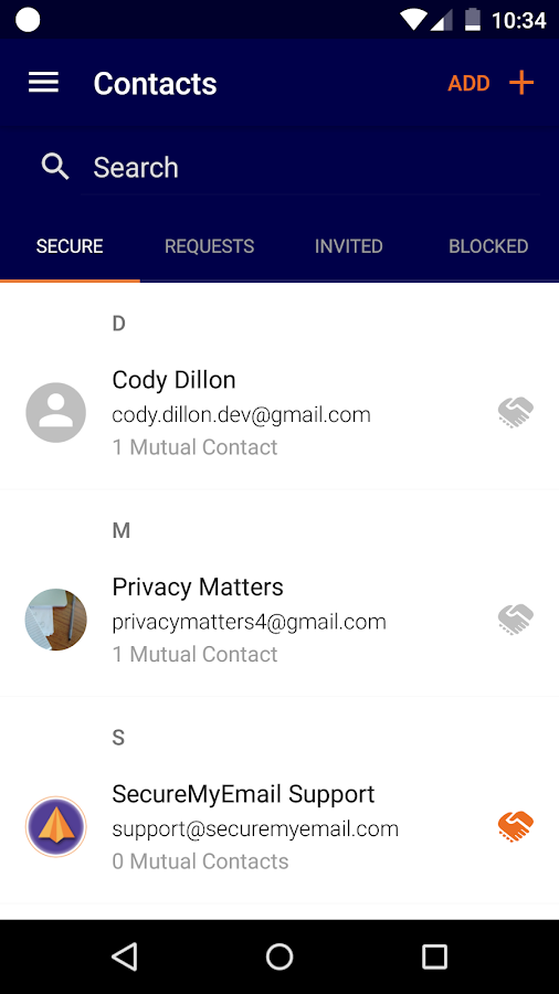 SecureMyEmail Encrypted Email- screenshot