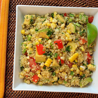 Quinoa Salad with Corn, Tomatoes, Avocado and Lime Recipe