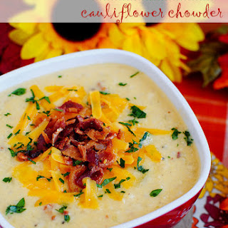 Bacon-Cheddar Cauliflower Chowder