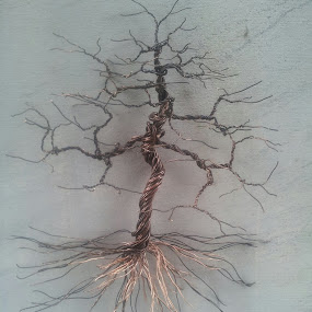 wall tree by Brian Boyer - Illustration Abstract & Patterns ( wire tree, sculpted wire tree )