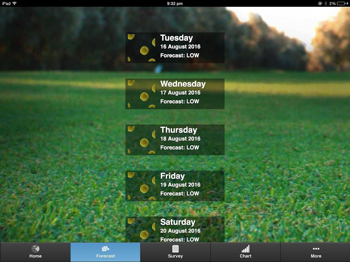 Brisbane Pollen Count- screenshot