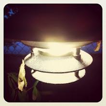 Photo: Alley light #intercer #light #dark #outside #night #walk #nature #bulb #instanature #beautiful #pretty #blue #white #building #town #city #air #plant #green #lamp #urban #architecture #buildings #view - via Instagram, http://instagr.am/p/QBkZGMpfn_/