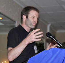 Photo: Ben Griffin, accepting the leadership in peace award