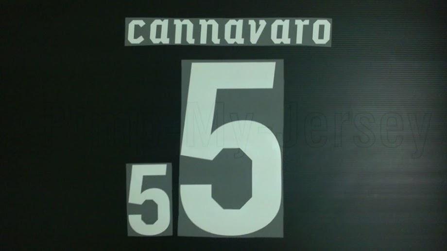 CANNAVARO #5 Italy Home World Cup 2010 Name Set