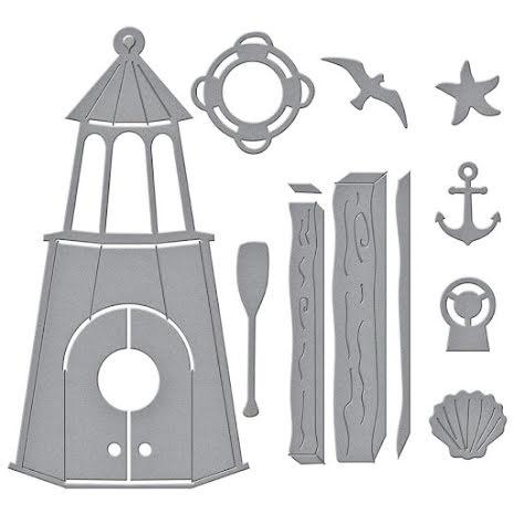 Spellbinders Dies By Vicky Papaioannou - Build A Summer Birdhouse