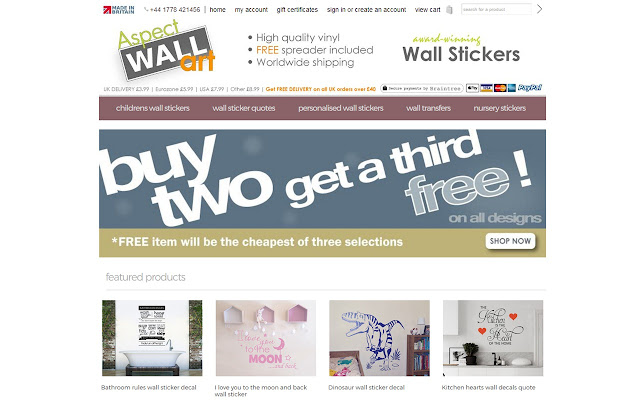 Aspect Wall Art Wall Stickers Chrome Web Store - How to apply wall decals