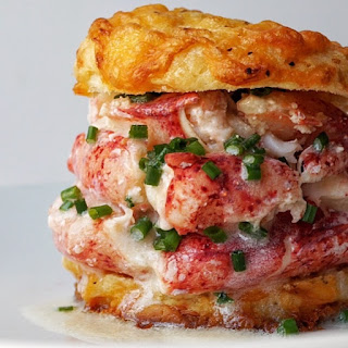 Cheddar Cheese Biscuit Lobster Sandwich