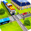 Indian Crossroad Crossing:Railway Train Passing 3D