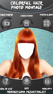 Barevné vlasy foto montáž - náhled