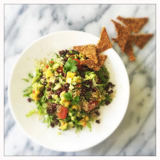 Vegan Taco Salad with Persimmon Avocado Salsa