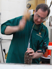 Photo: When setting a drive center use a mallet, not the tail stock.