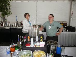 Photo: bartenders in pavilion