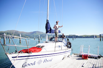 Photo: Getting ready for a sail, Naval Point Club, Lyttelton, Mike & Trevor