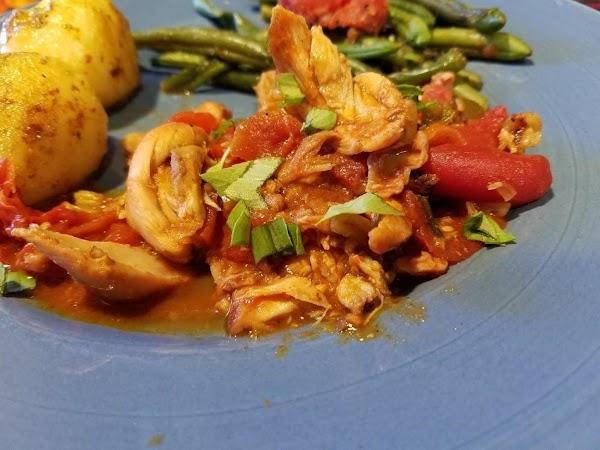 Portuguese Chicken W/ Tomato Sauce Recipe
